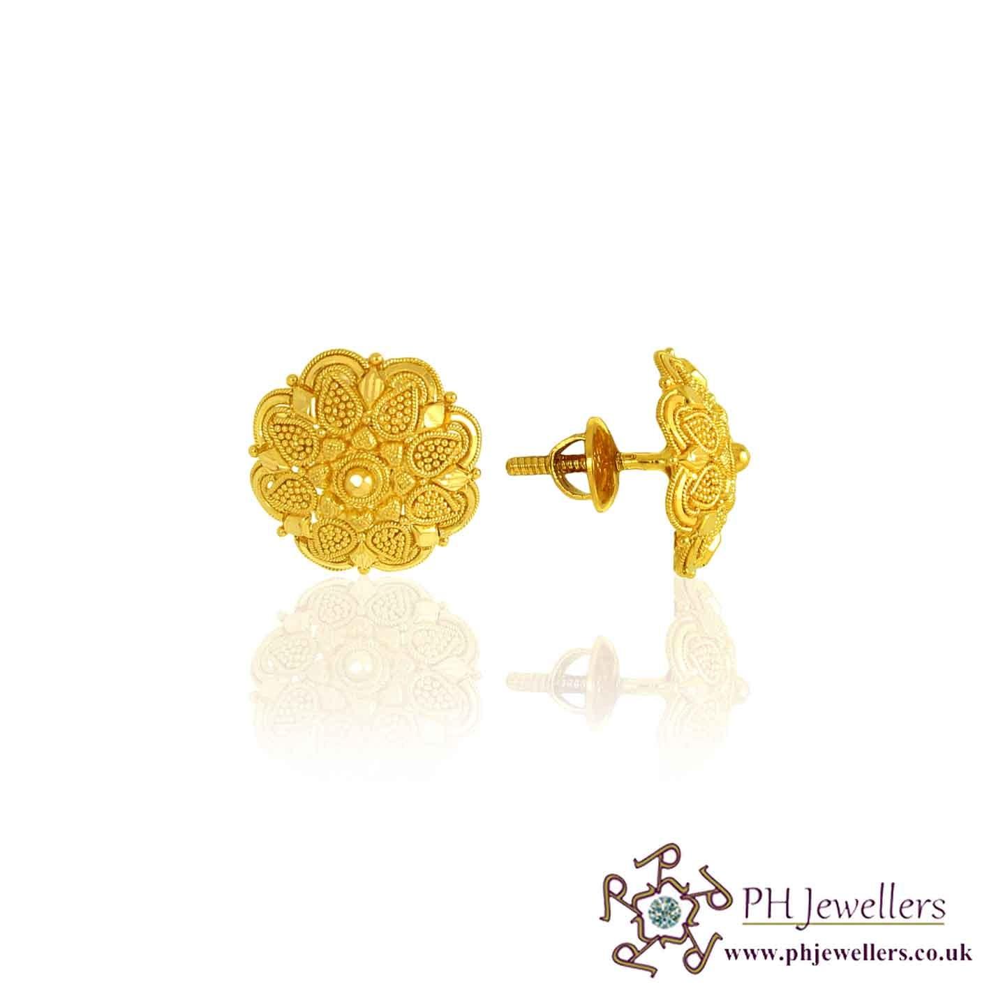 Gold Earrings Tops Image - Best Earring 2017