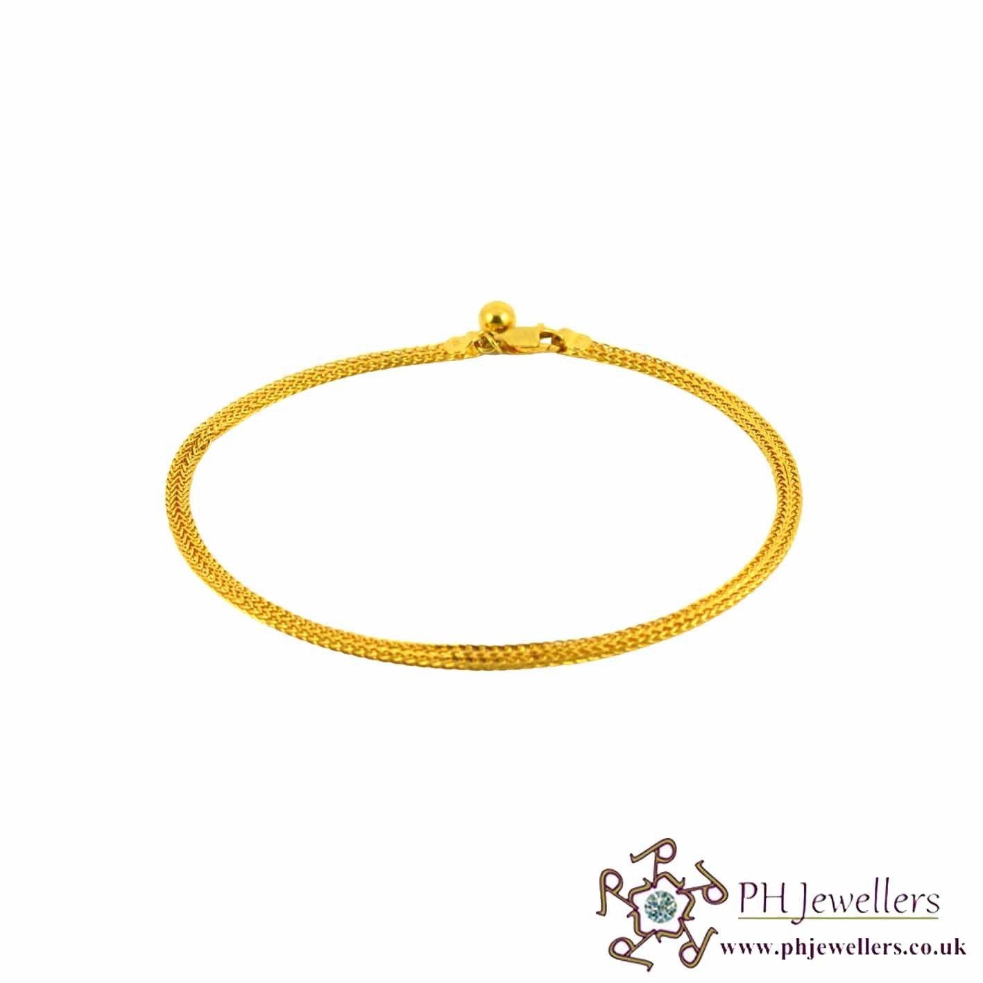 gold by yard anklet the diamonds yellow