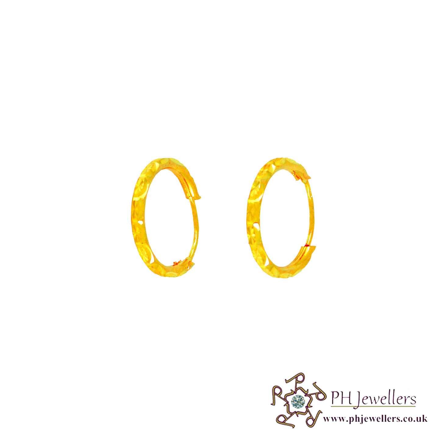 22ct 916 Hallmark Yellow Gold Bali Earrings BE13