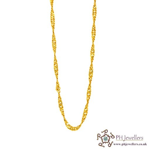 22ct 916 Hallmark Yellow Gold Chain Ripple C2
