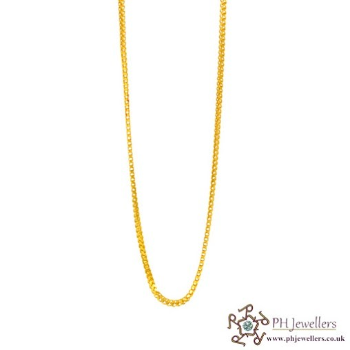 22ct 916 Hallmark Yellow Gold Fox Chain PC5