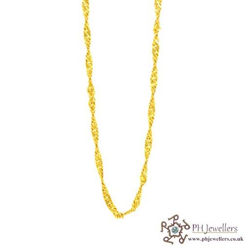 22ct 916 Hallmark Yellow Gold Ripple Chain PC7