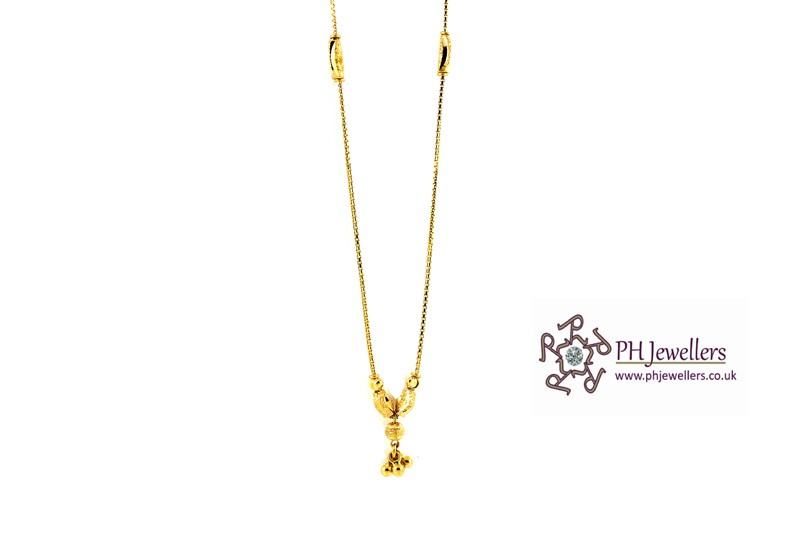 22ct 916 Yellow Gold Hallmark Choker Chain CC10