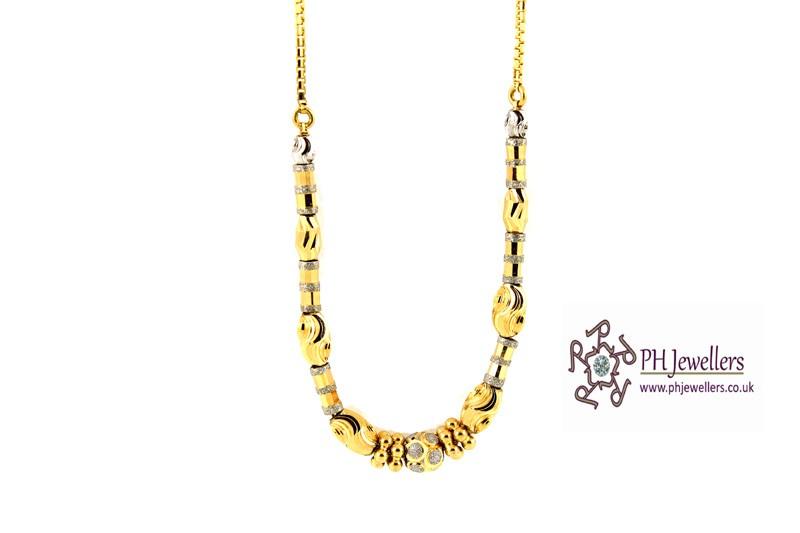 22ct 916 Yellow Gold Hallmark Choker Chain CC11
