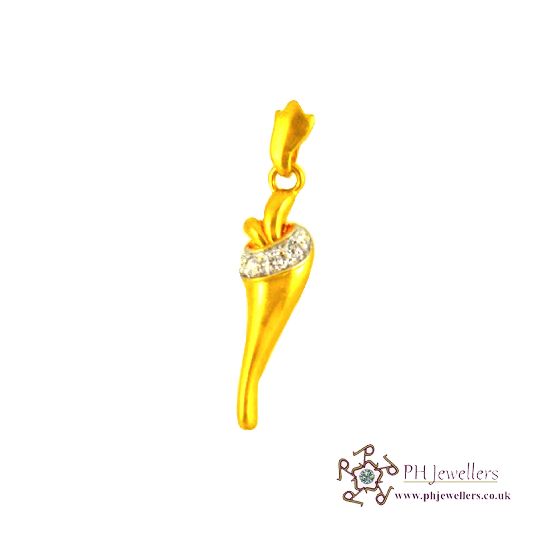 22ct 916 Hallmark Yellow Gold Pendant CZ FP9