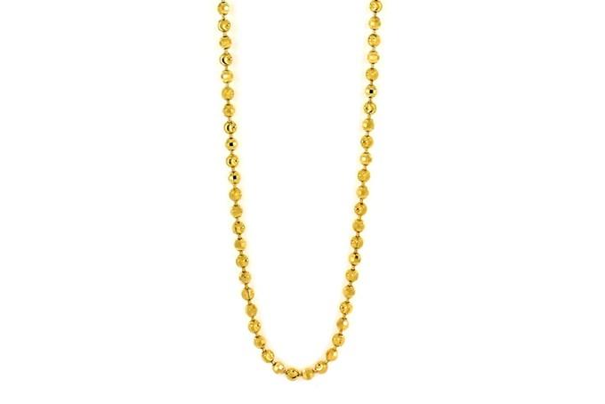 22ct 916 Hallmark Yellow Gold Ball Beads Chain PC50