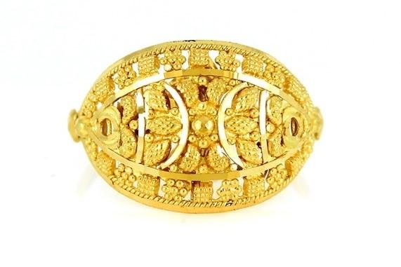 22ct 916 Yellow Gold Hallmark Ring  Size M  PR36
