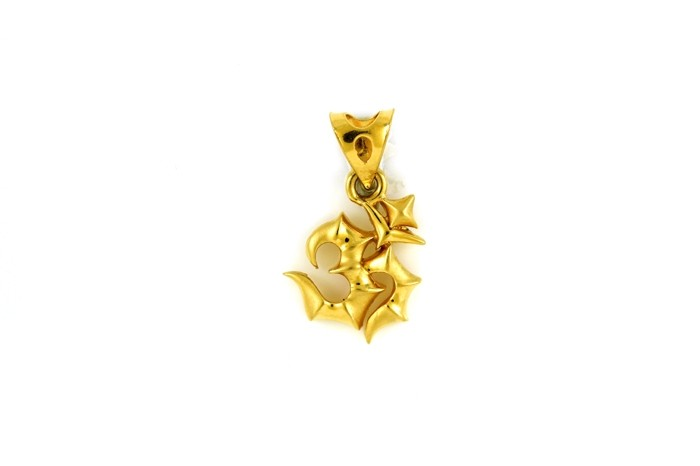 22ct 916 Hallmark Yellow Gold Om Pendant RP71