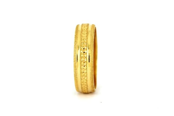 22CT 916 YELLOW GOLD HALLMARK WEDDING RING SIZE S  WB29