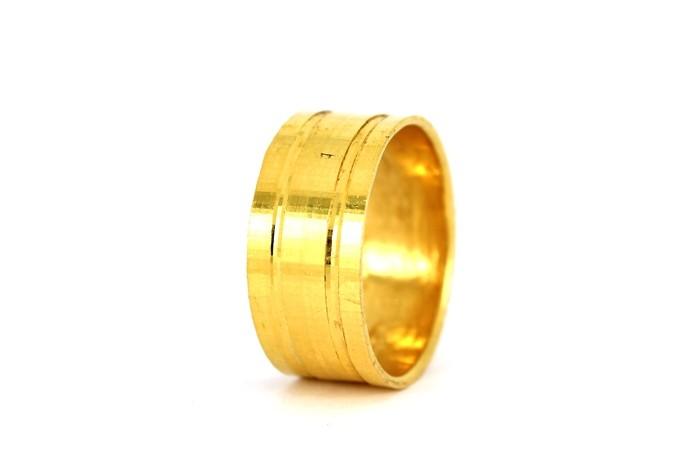 22CT 916 YELLOW GOLD HALLMARK WEDDING RING SIZE R  WB32