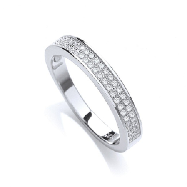 925 Sterling Silver Rhodium Plated Ring