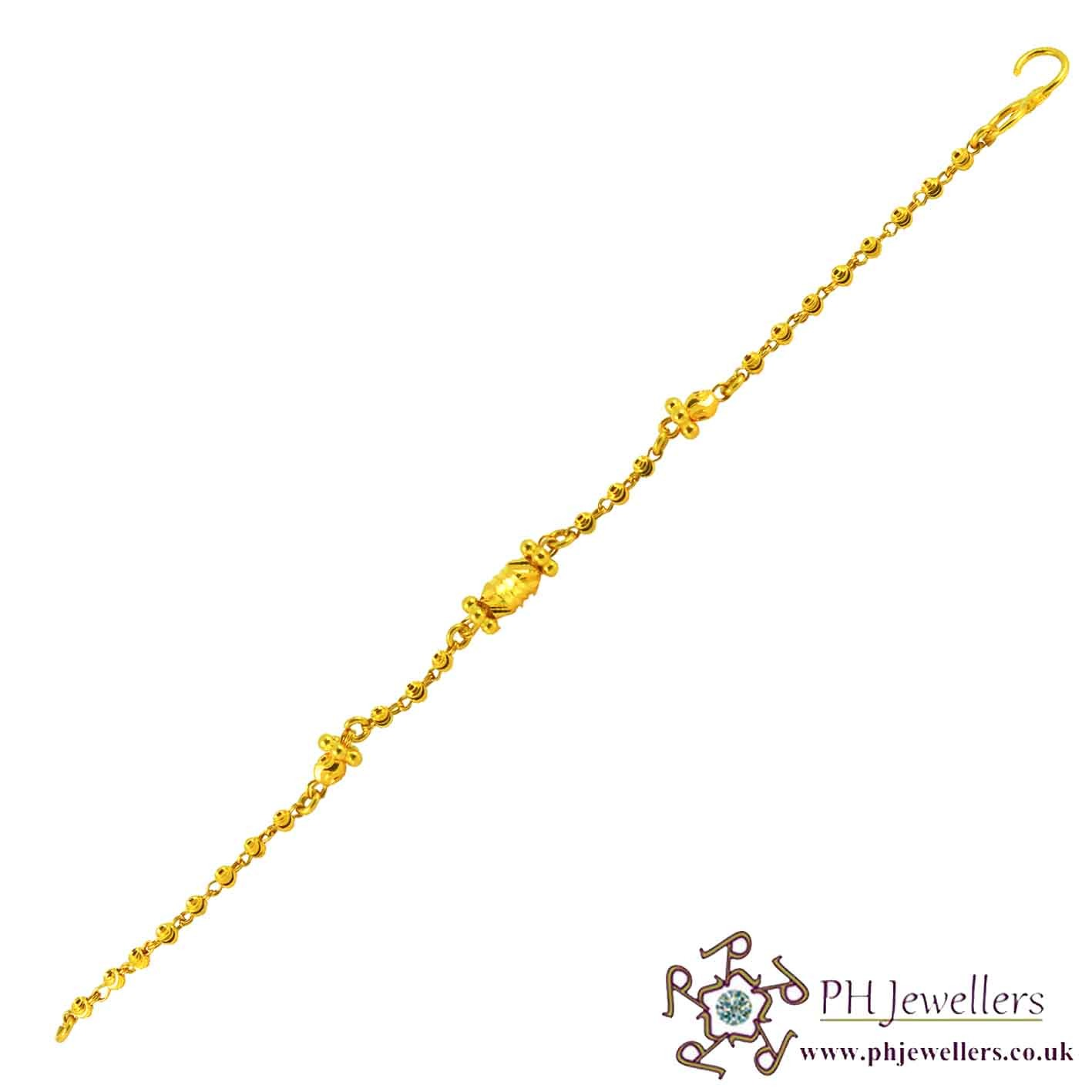22ct 916 Hallmark Yellow Gold Mania Bracelet KB7