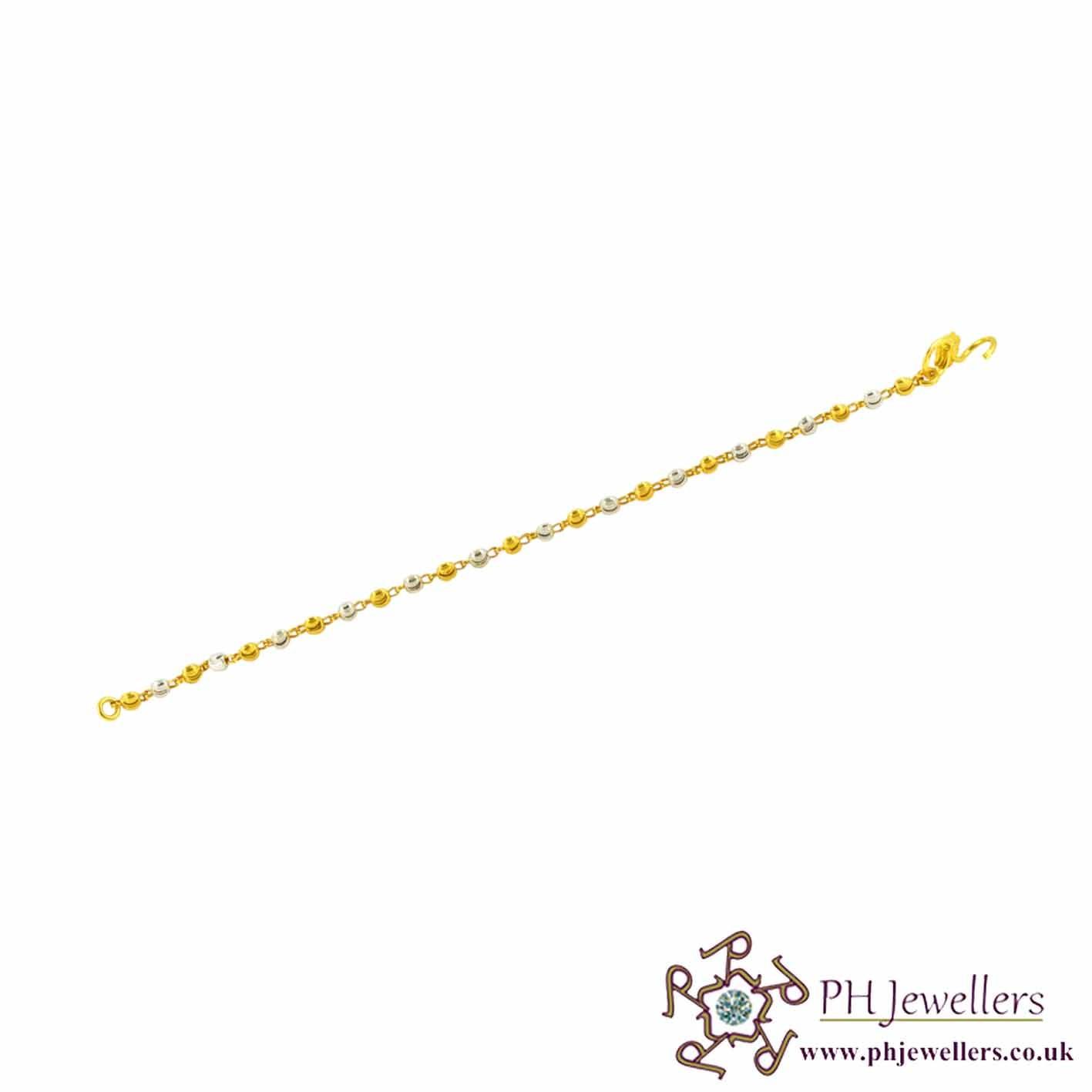 22ct 916 Hallmark Yellow Gold Mania Bracelet KB8