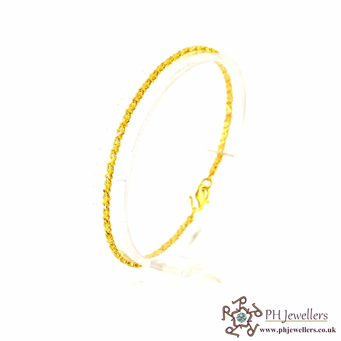 22ct 916 Hallmark Yellow Gold Bracelet LB23