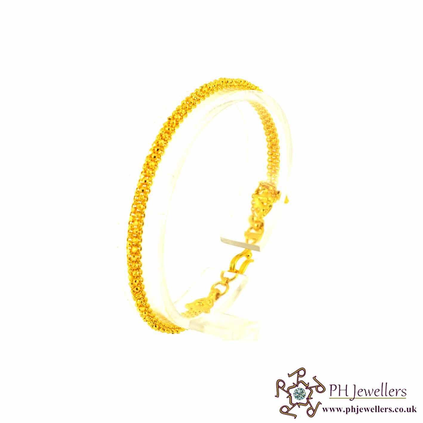 22ct 916 Hallmark Yellow Gold Bracelet LB3
