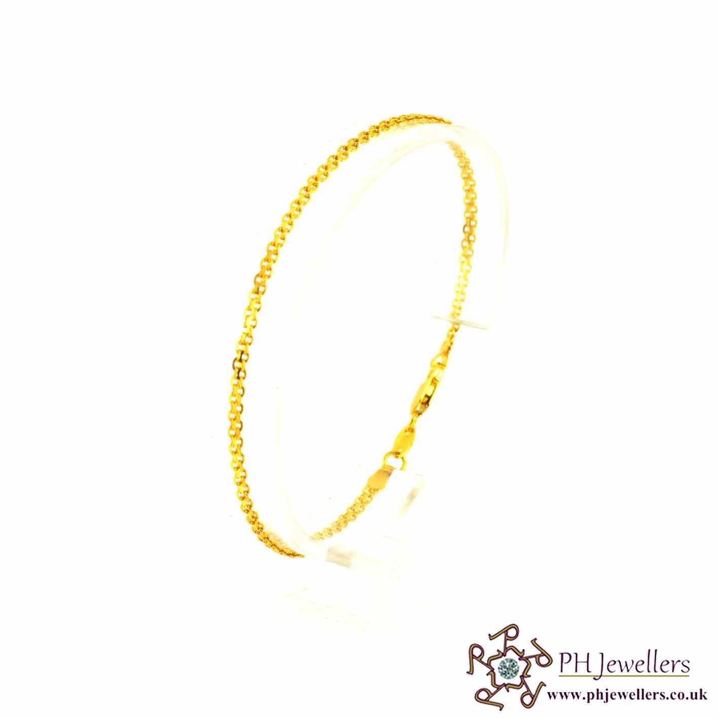 22ct 916 Hallmark Yellow Gold Bracelet LB4