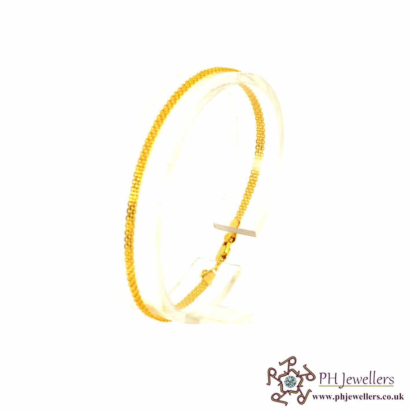 22ct 916 Hallmark Yellow Gold Bracelet LB6