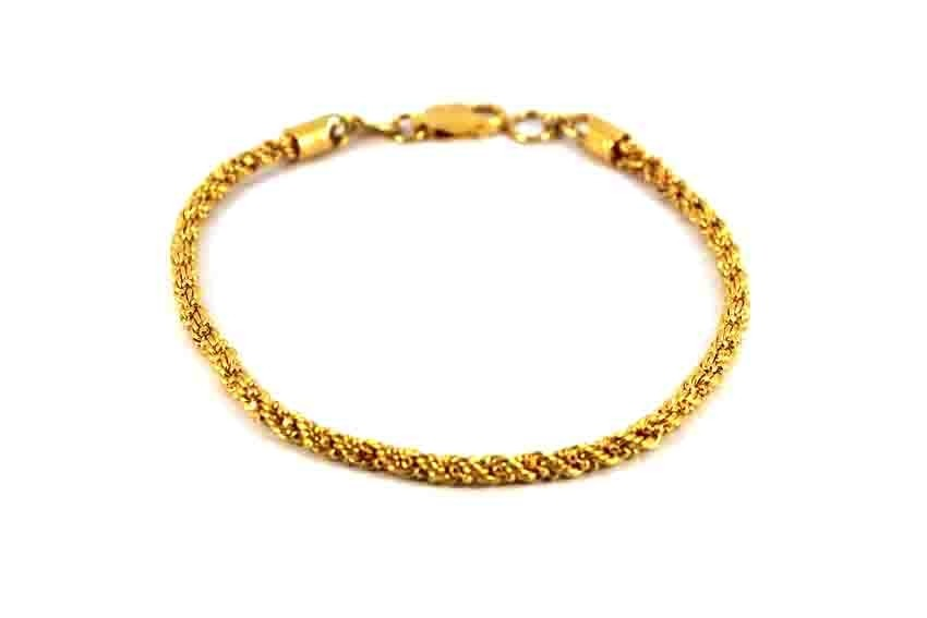 22ct 916 Indian Yellow Gold Ladies Bracelet Twisted LB65