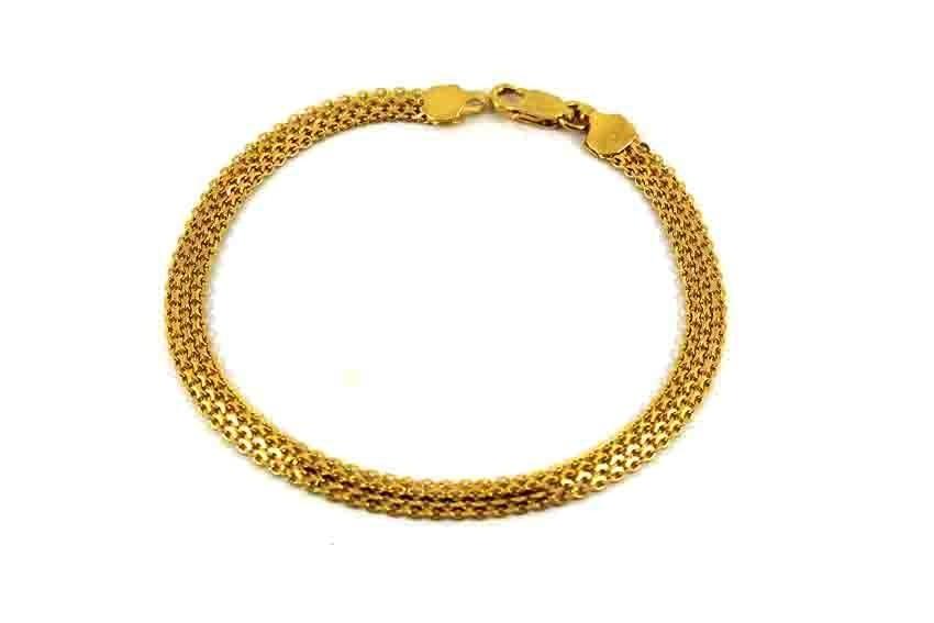 22ct 916 Indian Yellow Gold Ladies Flat Bracelet  LB72