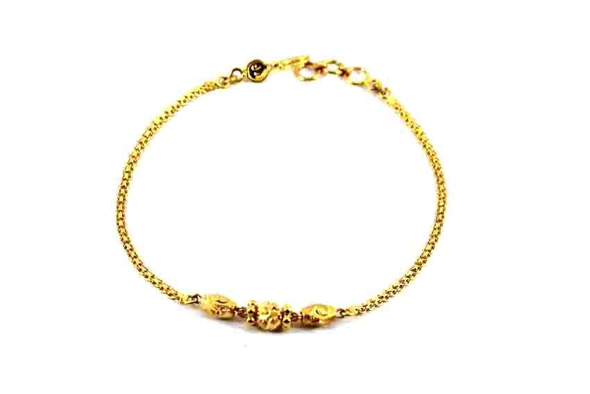 22ct 916 Indian Yellow Gold  Ladies Ball Bracelet LB73