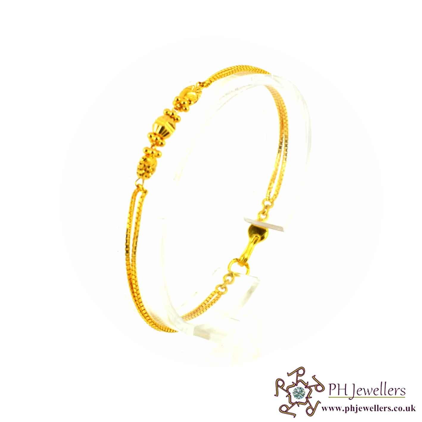 22ct 916 Hallmark Yellow Gold Bracelet LB9