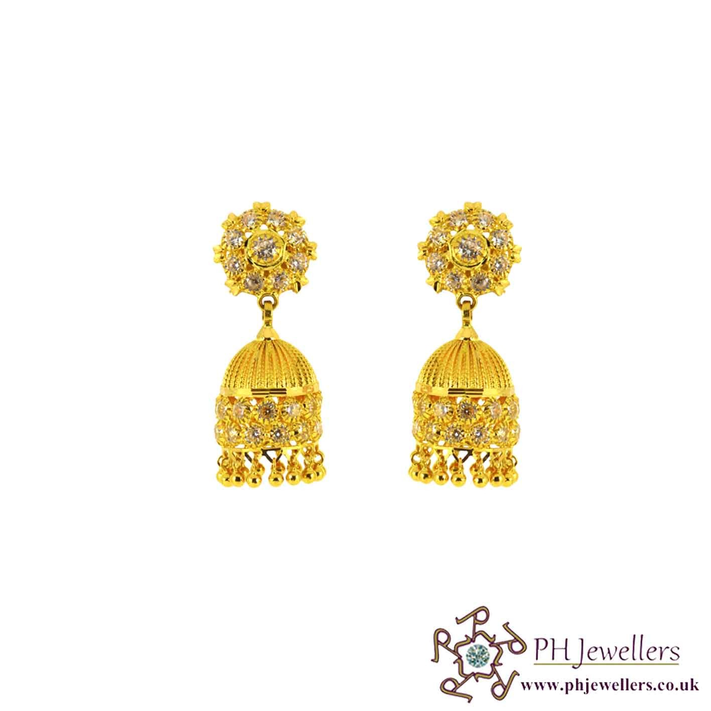 earrings gold designer fancy in jhumka searchcode