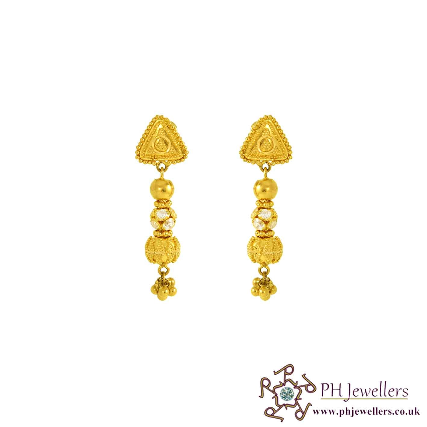 jewellery earrings stones set rj drop jhumka gold choker with pearls