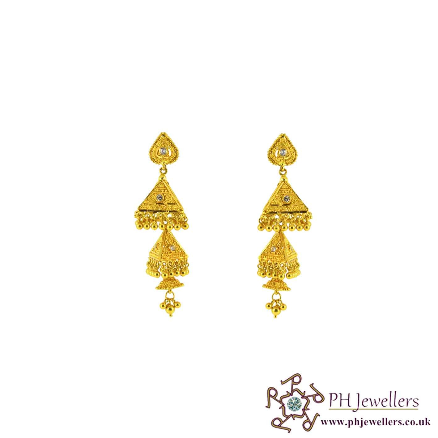 style hanging golden parmar jewellery gold fancy jewellers tops chain shop pune designer earrings jewellersparmar in