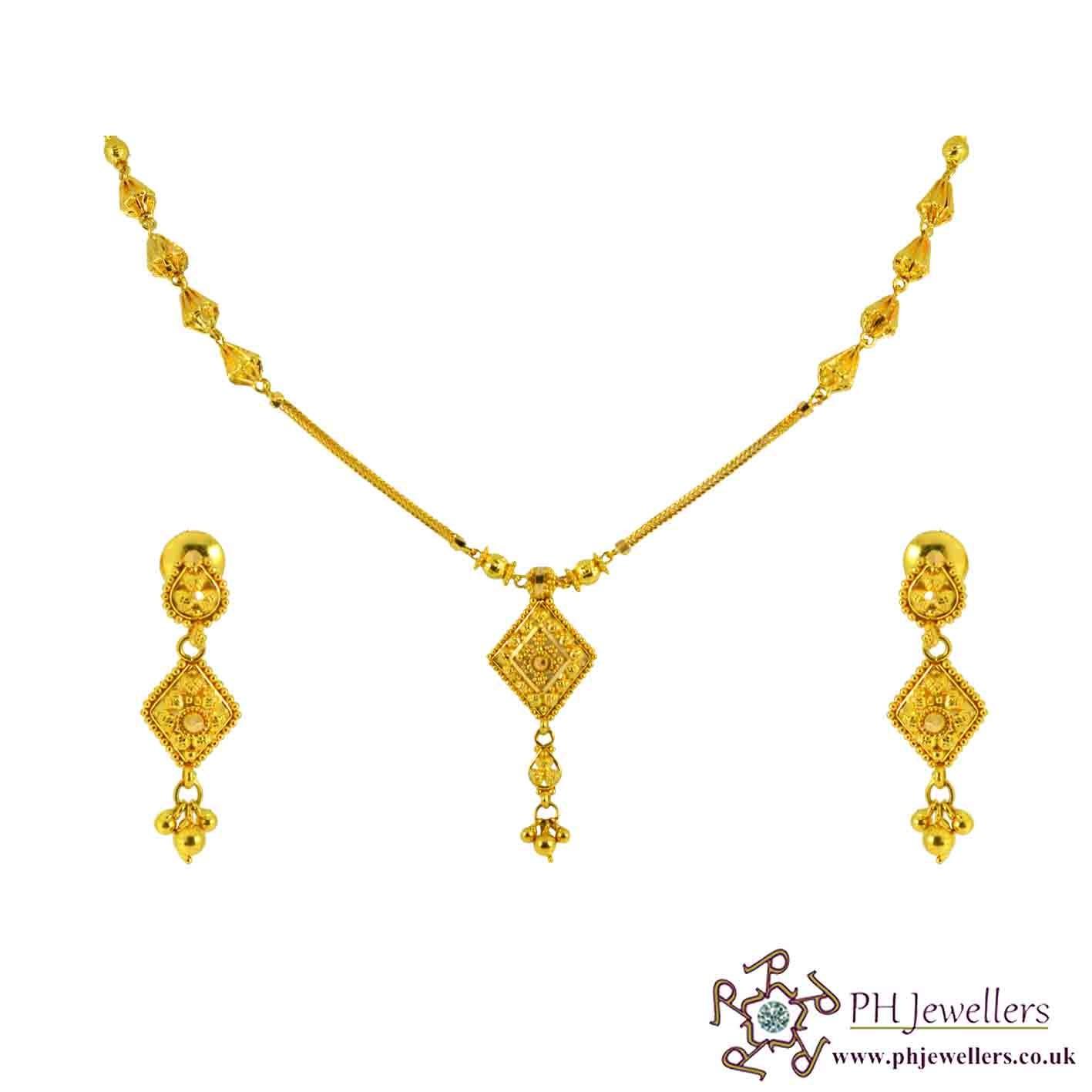 22ct 916 Hallmark Yellow Gold Necklace Set NCK6