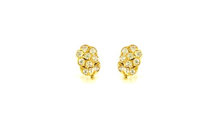 22ct 916 Yellow Gold Small Kids Baby Earrings SE79