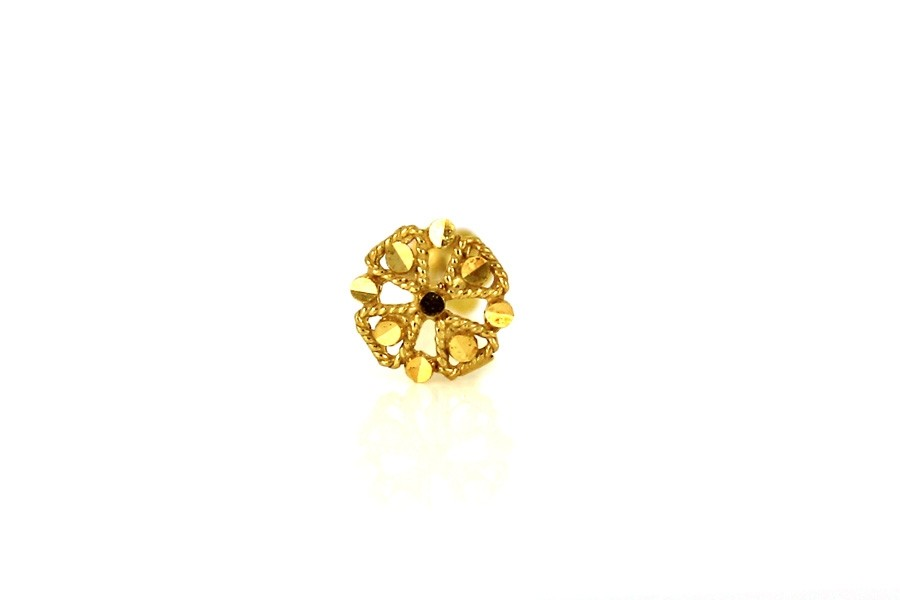 22ct 916 Yellow Gold Round Screw Nose Stud  NSS30
