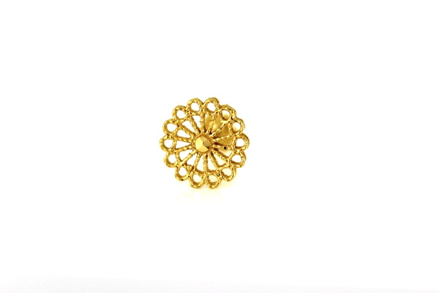 22ct 916 Yellow Gold  Round  Big Screw Nose Stud  NSS41