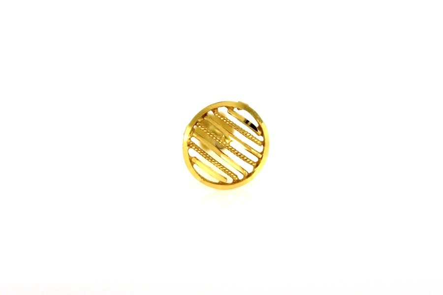 22ct 916 Yellow Gold  Round  Oval Big Screw Nose Stud  NSS42