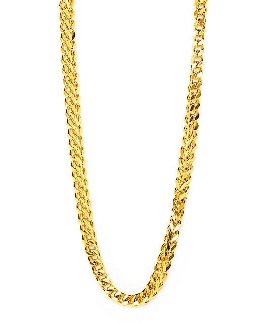 "22ct 916 Hallmark Yellow Gold 18"" Franco Chain PC55"