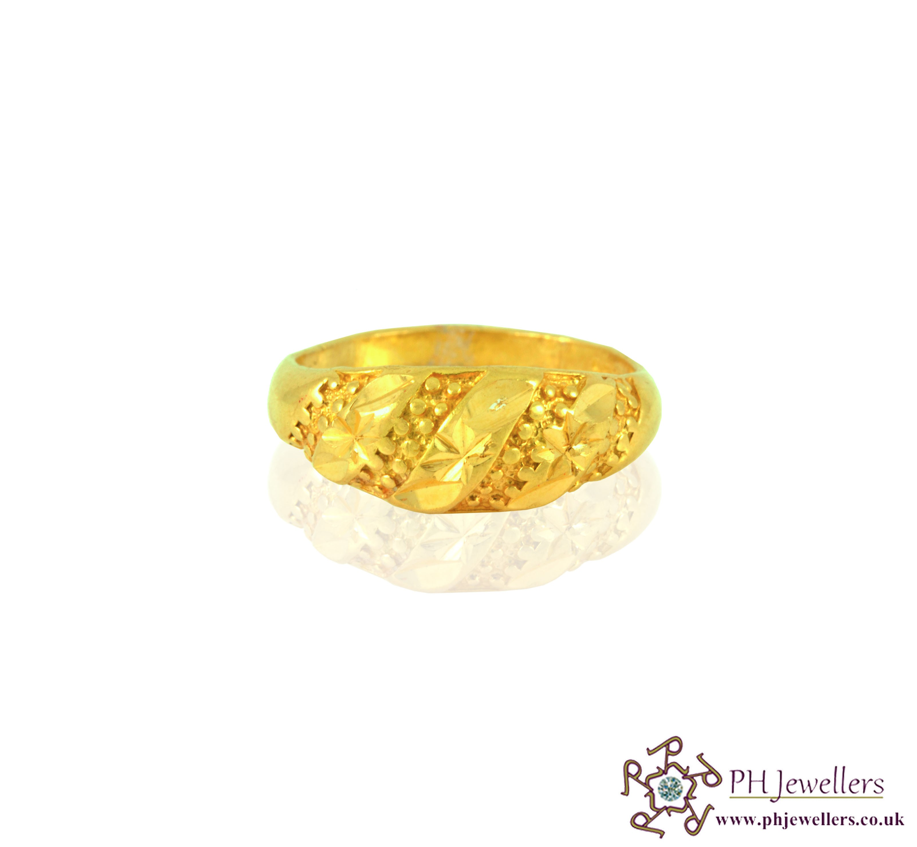 22ct 916 Hallmark Yellow Gold O,P,Q Ring PR1