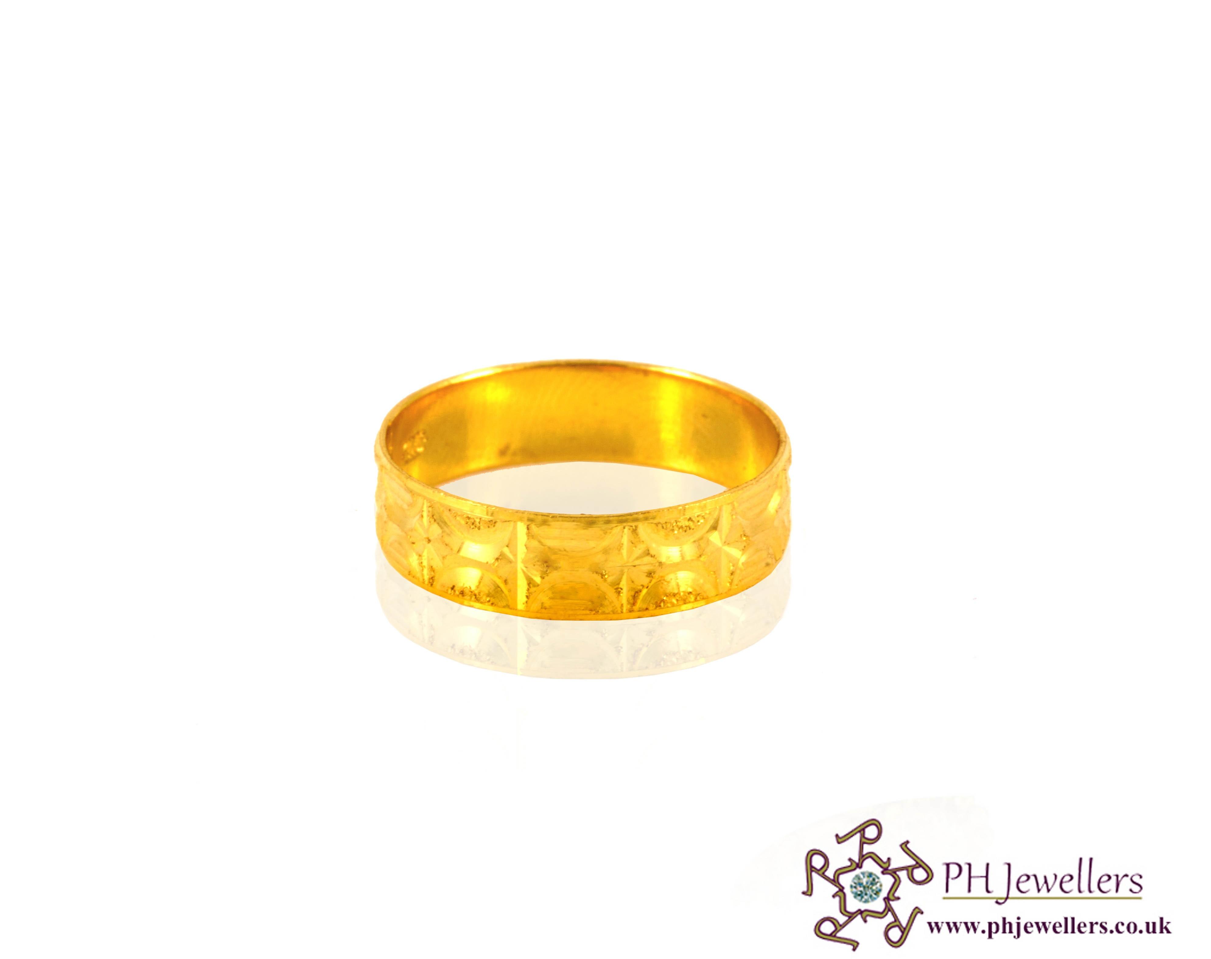 Online Gold Jewellery Gold Jewellery Ring 22ct 916 Hallmark Yellow