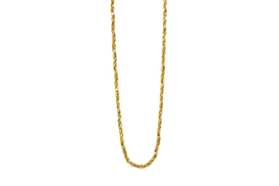 line Gold Jewellery 22ct 916 Hallmark Yellow gold with Rhodium