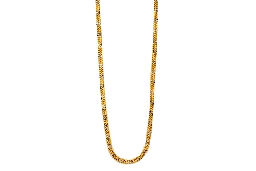 22ct 916  Hallmark Yellow gold with Rhodium Chain RC24