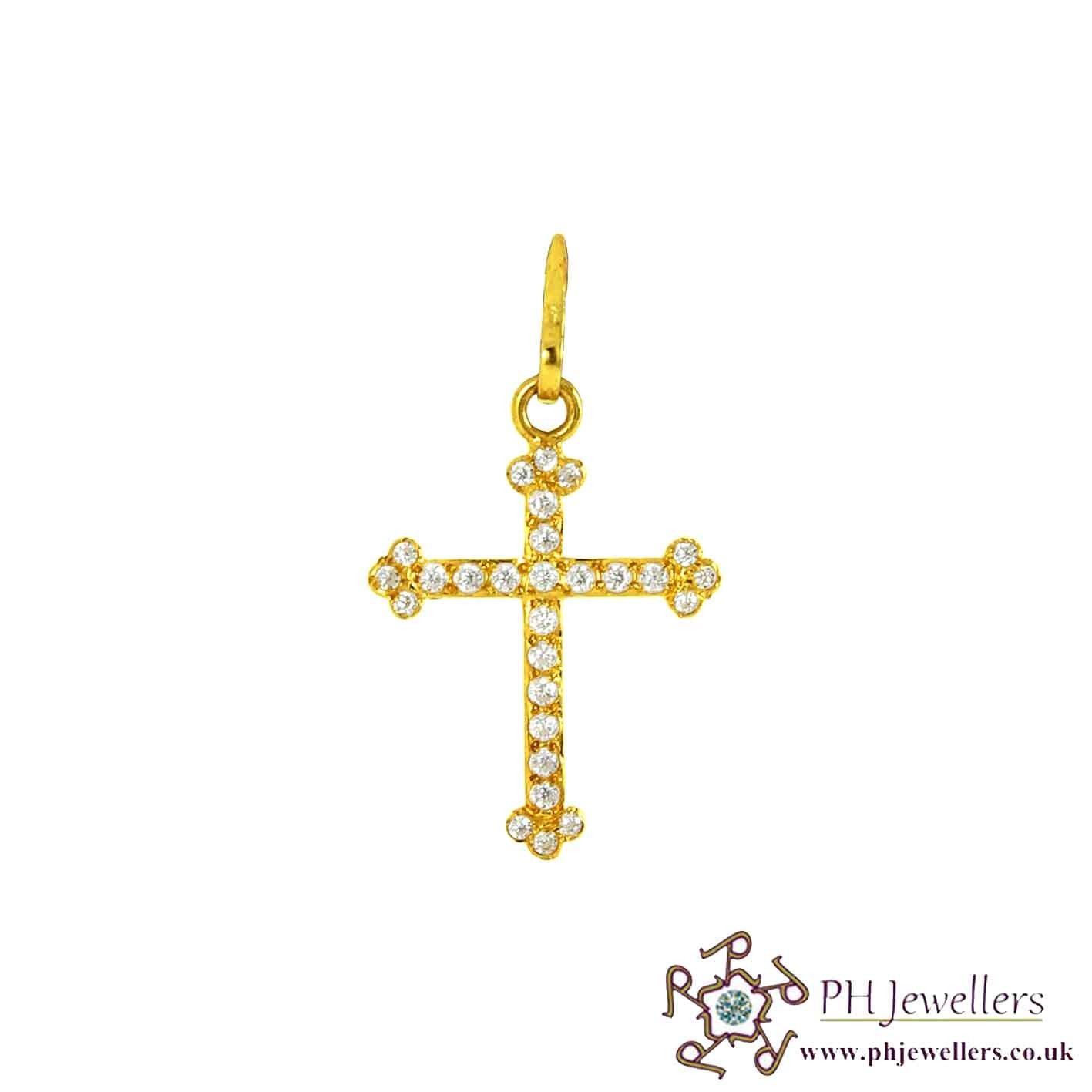 Online gold jewellery gold jewellery religious 22ct 916 hallmark online gold jewellery gold jewellery religious 22ct 916 hallmark yellow gold cross pendant cz rp42 22 carat gold jewellers aloadofball Gallery