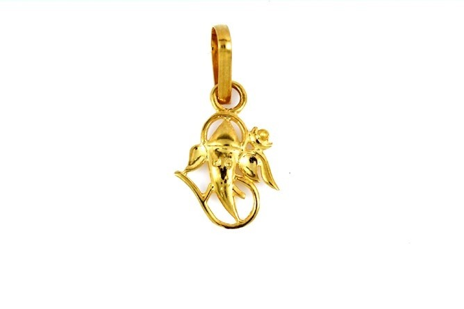 22ct 916 Hallmark Yellow Gold Ganesh God Pendant  RP84