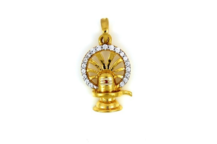 22ct 916 Hallmark Yellow Gold God Shiva' Shivling Pendant  RP96