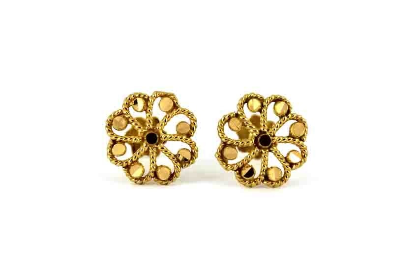22ct 916 Yellow Gold Flower Small Kids Baby Stud Earrings SE114