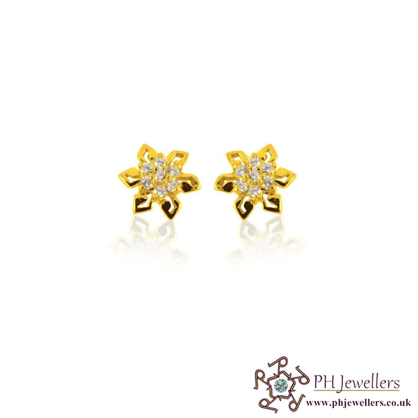zirconia star feature a these aeravida studded post fun artisan silver earrings from ce wt feel encrusted and thai with cubic products stud cz white design flower k like cute are sparkly details shaped jai