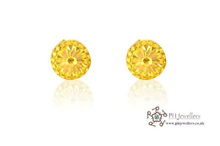 22ct 916 Yellow Gold  Stud Earrings SE25