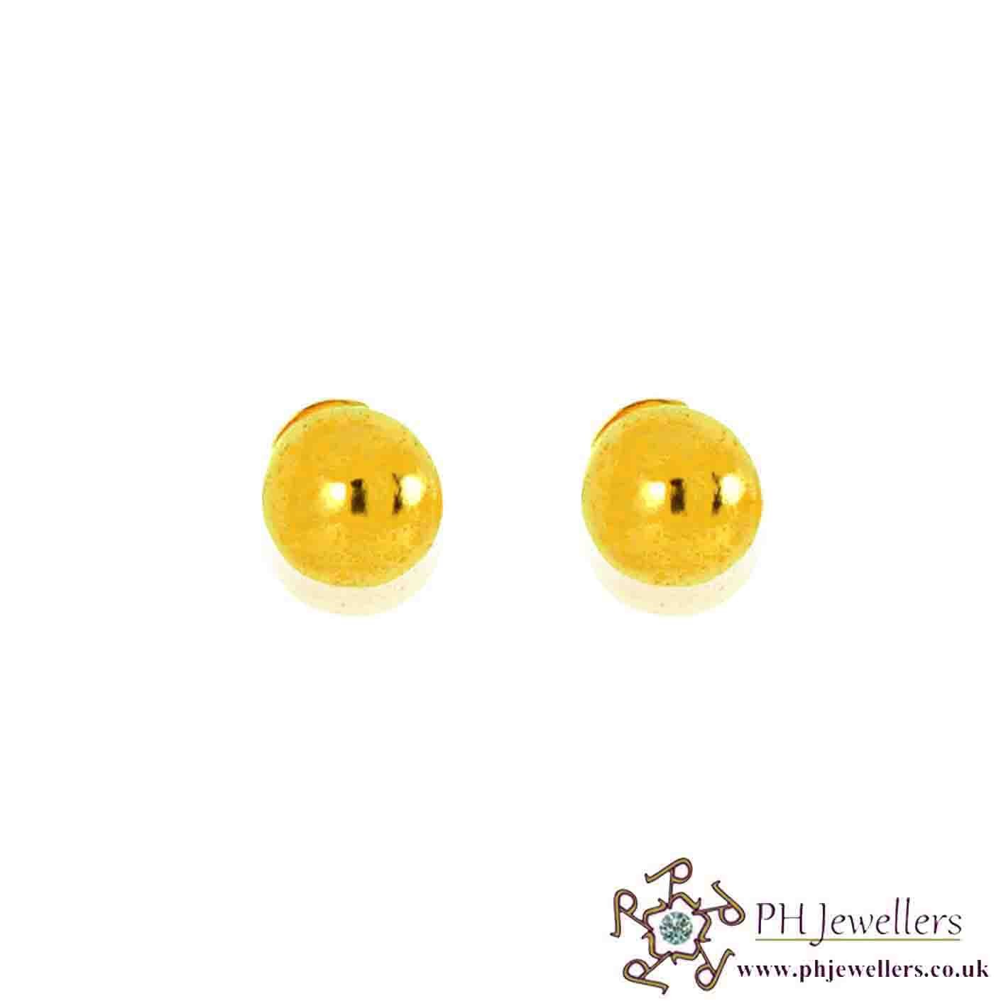 22ct 916 Yellow Gold Ball Earring SE30