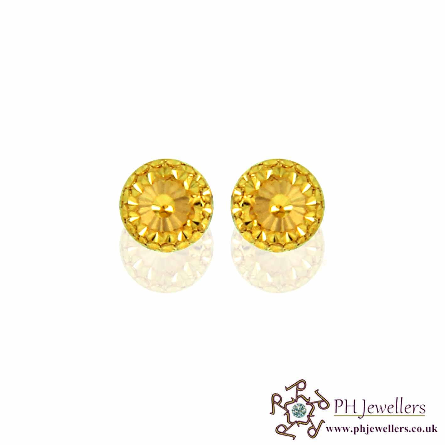 22ct 916 Yellow Gold Earring SE44