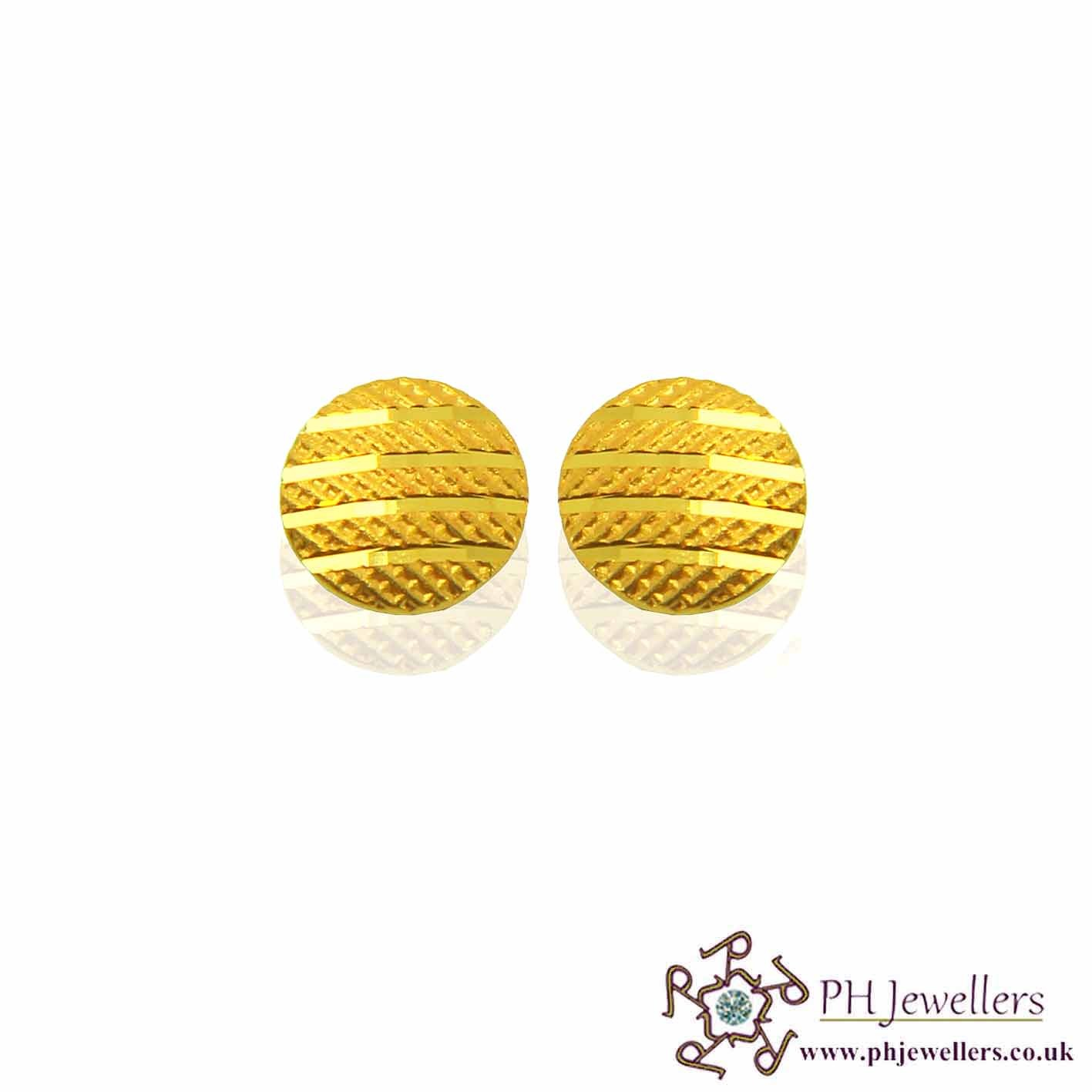 22ct 916 Yellow Gold Earring SE48