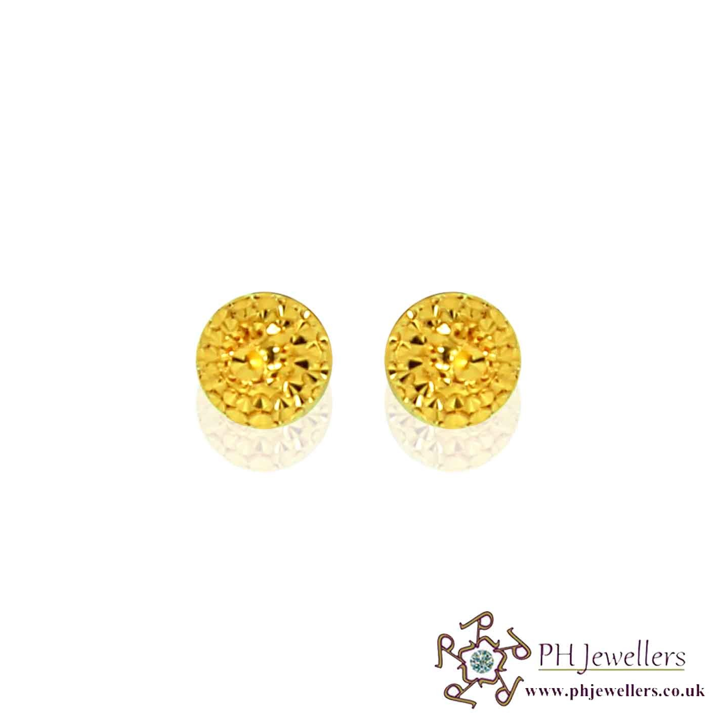 22ct 916 Yellow Gold Stud Earring SE5