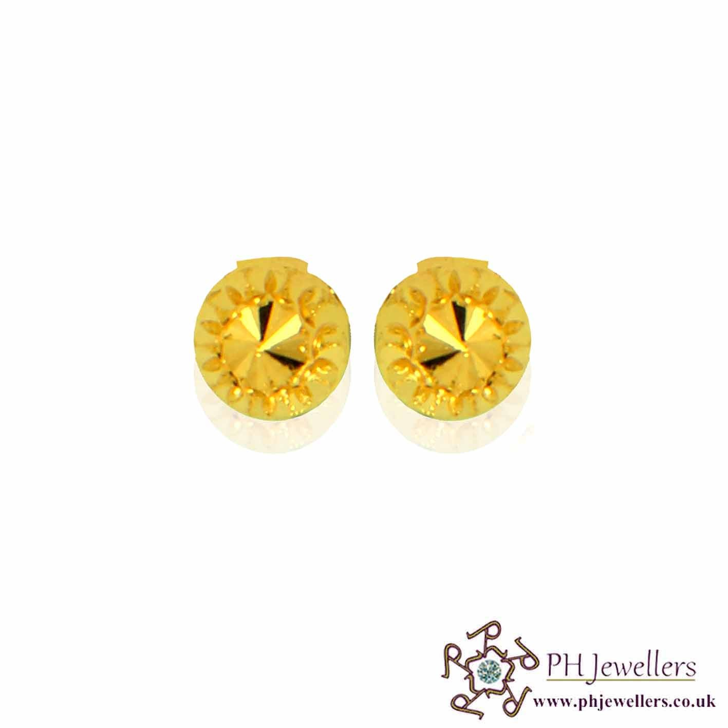 22ct 916 Yellow Gold Earring SE50