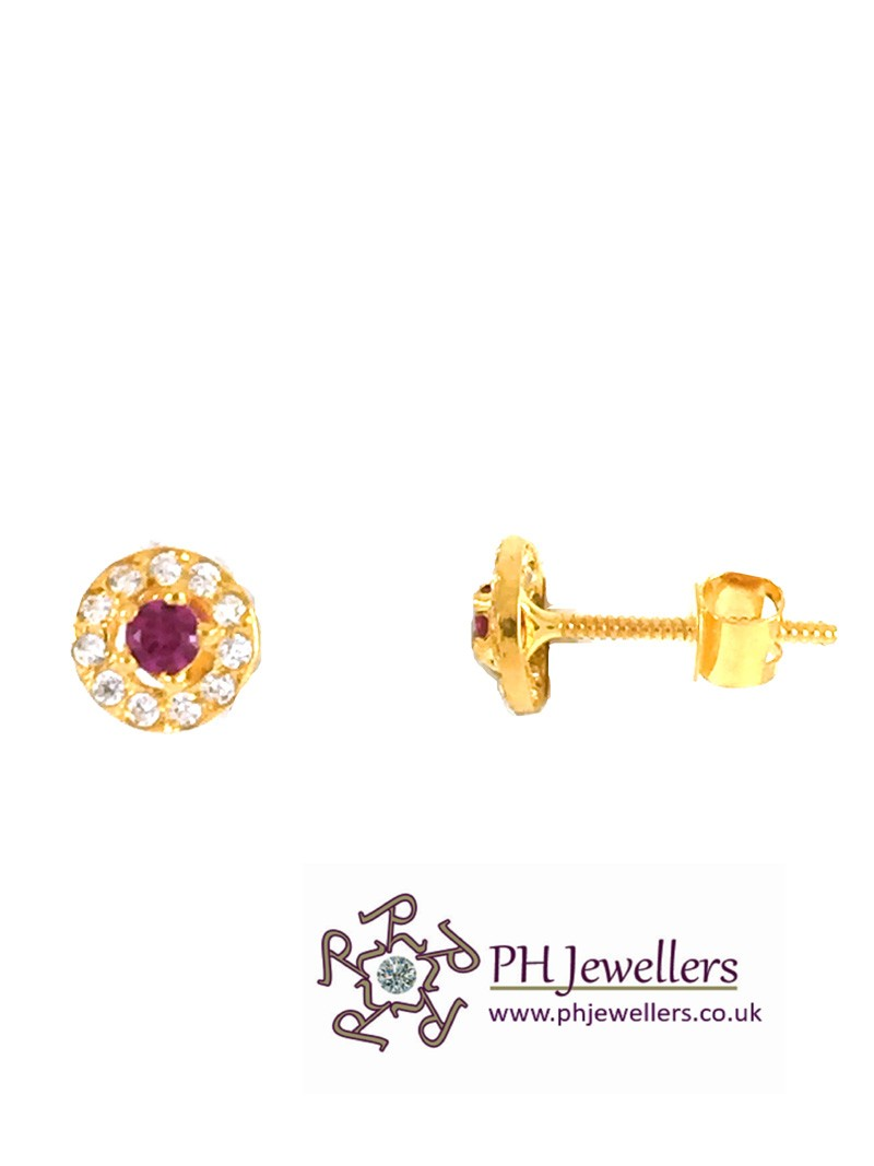 and clay stud earrings marble round gold polymer product shop
